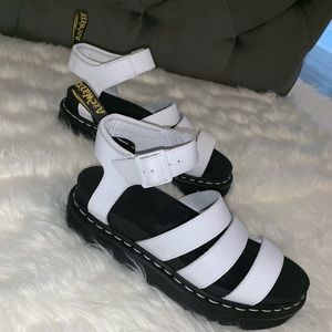 Dr. Martens White Sandals